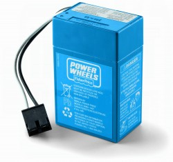 Power Wheels 6 Volt Battery 00801-1457