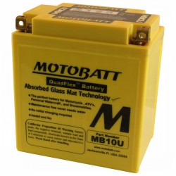 MotoBatt MB10U with Terminals Connected