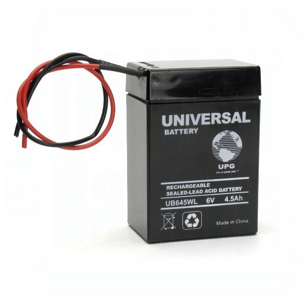 upg ub645wl 6 volt 4 5ah battery. Black Bedroom Furniture Sets. Home Design Ideas