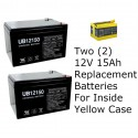 24V Replacement Batteries for Peg Perego