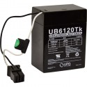 UPG UB6120 TOY 6 Volt 12Ah Power Wheels Replacement Battery
