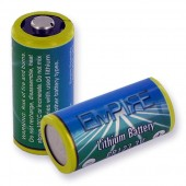 Two CR123A Lithium Flashlight Batteries