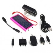 Red Compact Solar Charger