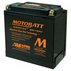 MBTX20UHD MotoBatt Battery w/ small terminals and bottom spacer