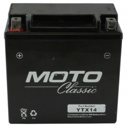 YTX14 Moto ClassicAGM Motorcycle Battery