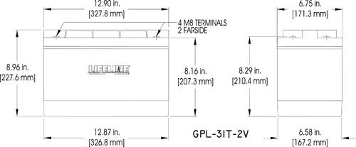 GPL-31T-2V Marine Battery Specifications