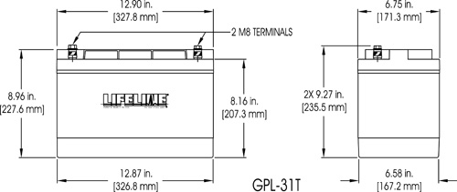 GPL-31T Marine Battery Specifications