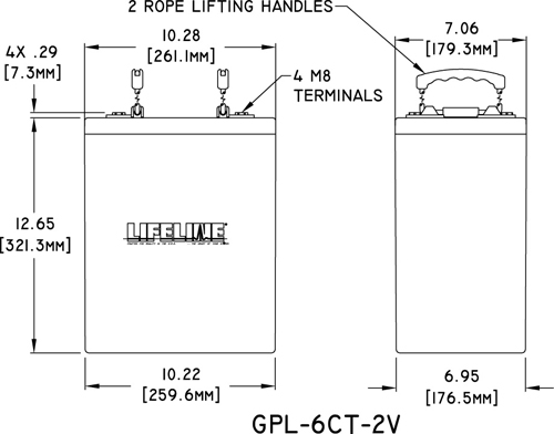 Lifeline GPL-6CT-2V Specs