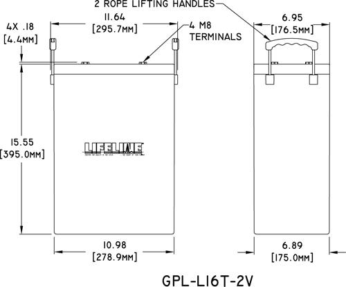 Lifeline GPL-L16-2V Product Specs